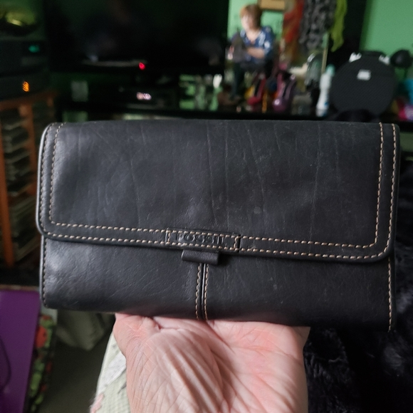 Black Genuine Leather FOSSIL wallet